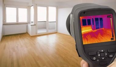 Χρήση θερμοκάμερας σε επιθεώρηση οικίας